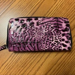 Kenneth Cole Reaction Bags - Kenneth Cole Reaction • Purple Leopard Wallet